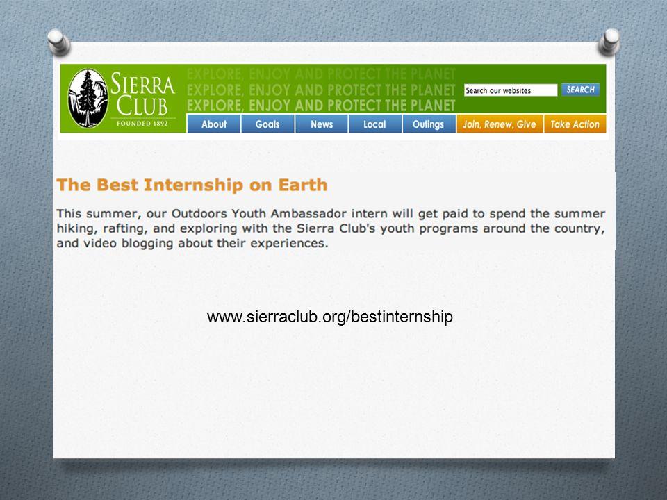 www.sierraclub.org/bestinternship