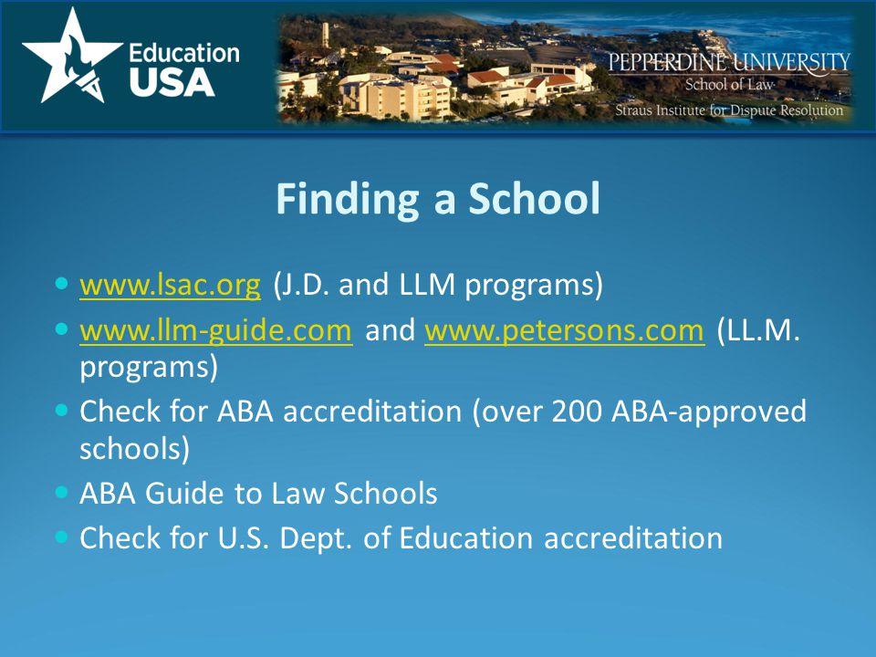 Finding a School www.lsac.org (J.D.