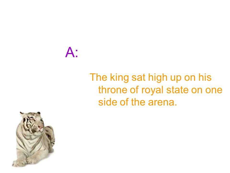 Q: What did the king get the lover to choose from?
