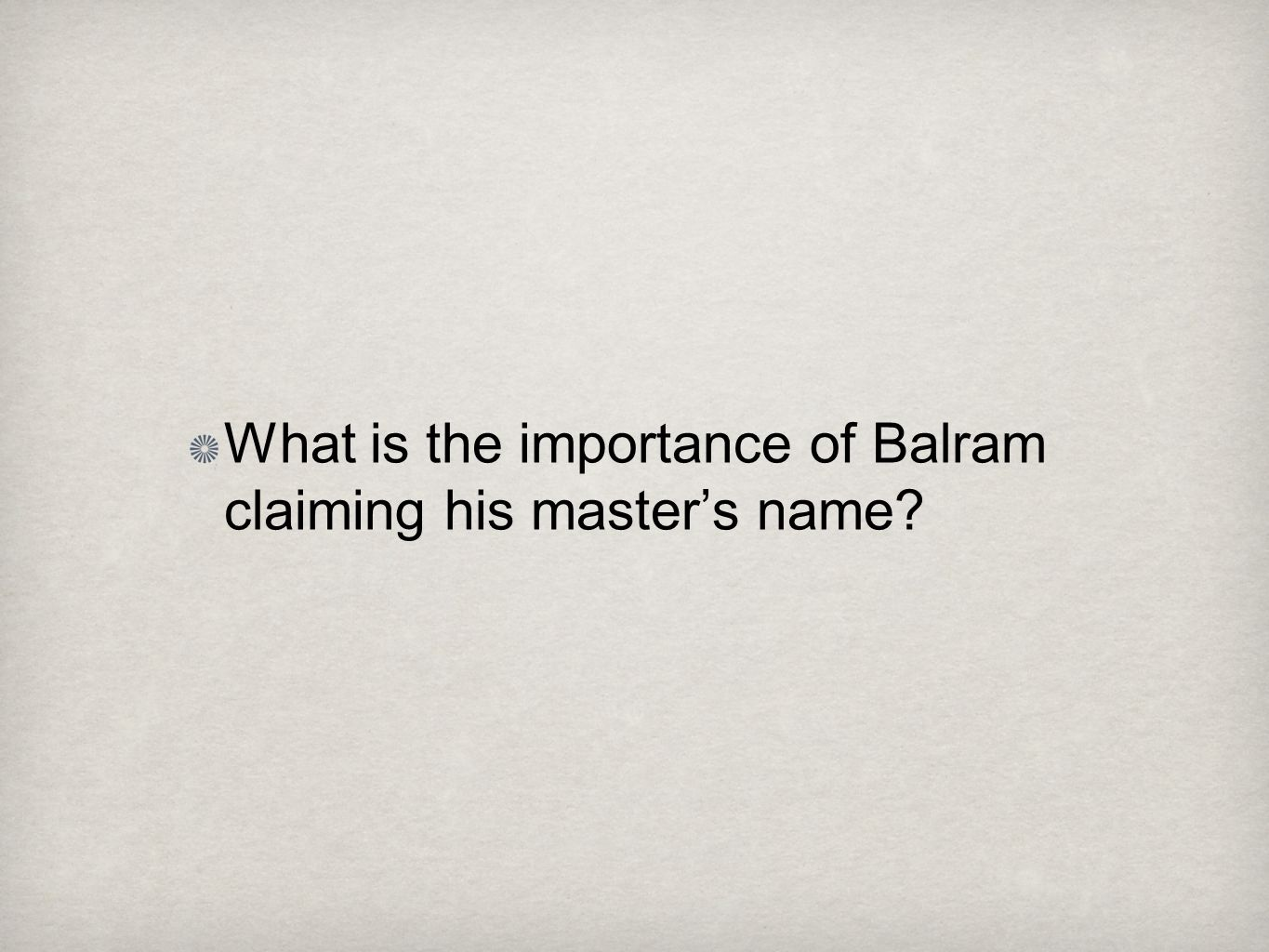 What is the importance of Balram claiming his master's name