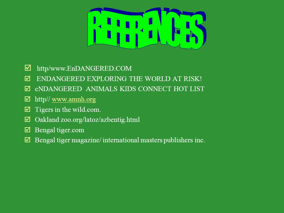 þ http/www.EnDANGERED.COM þ ENDANGERED EXPLORING THE WORLD AT RISK.