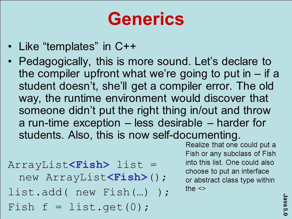Java 5.0 AP Probably Won't adopt… Scanner Variable number of parameters