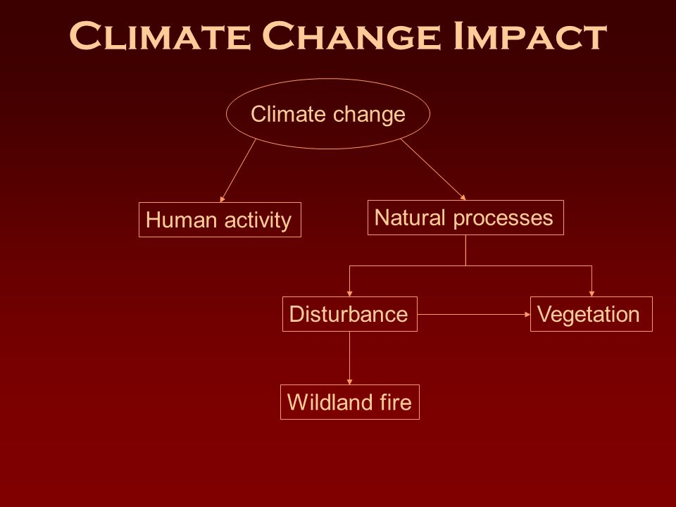 Climate Change Impact Climate change Human activity Natural processes DisturbanceVegetation Wildland fire