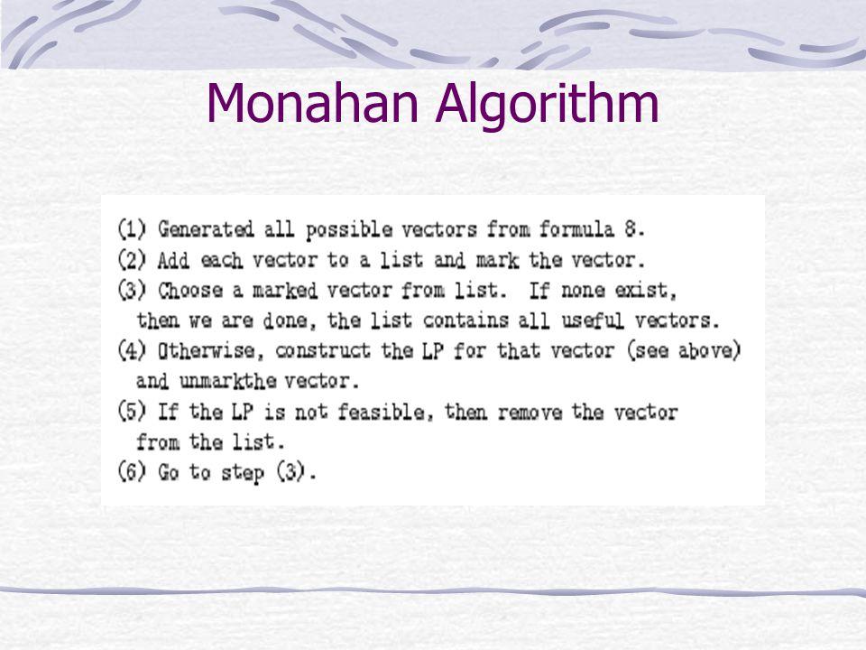 Monahan Algorithm