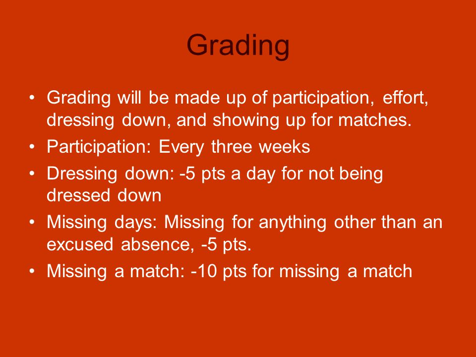 Grades, Band, Tutorials Players must keep their grade above a 70.