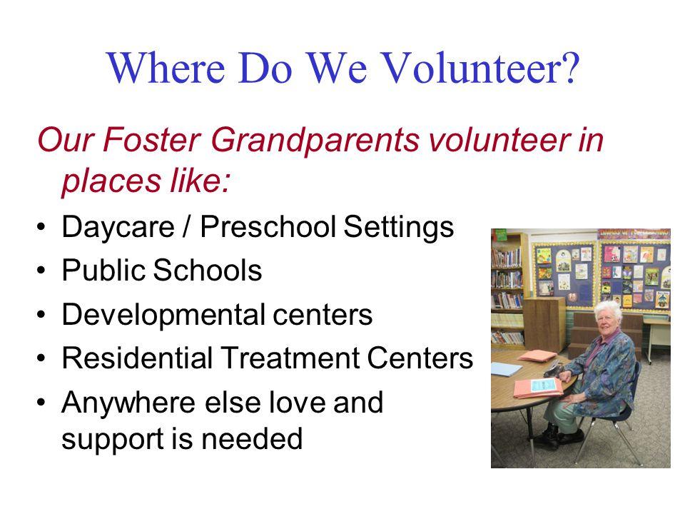 Where Do We Volunteer.