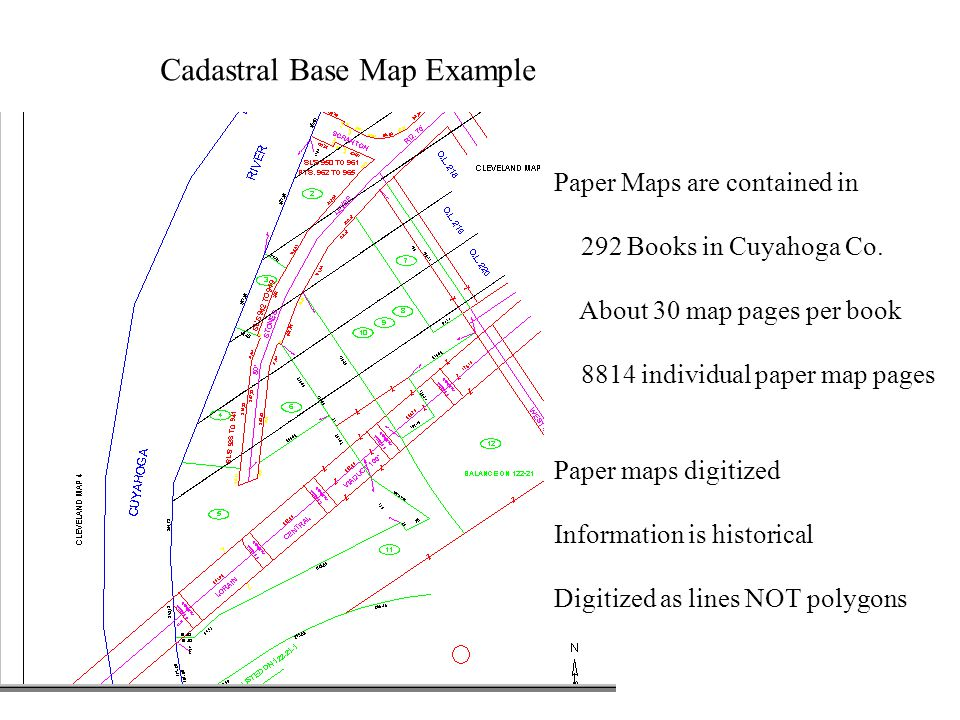Cadastral Base Map Example Paper Maps are contained in 292 Books in Cuyahoga Co.