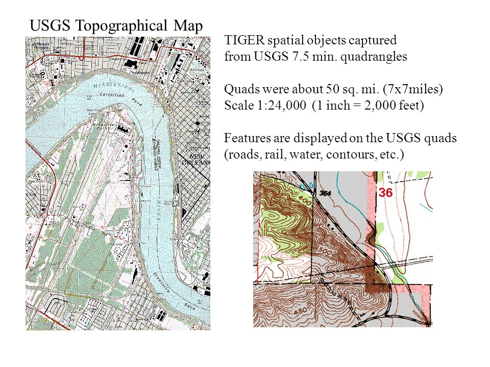 USGS Topographical Map TIGER spatial objects captured from USGS 7.5 min.