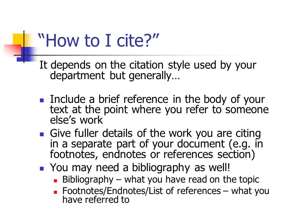 e.g.Running notes - footnotes / endnotes 1. BLAKE, W.