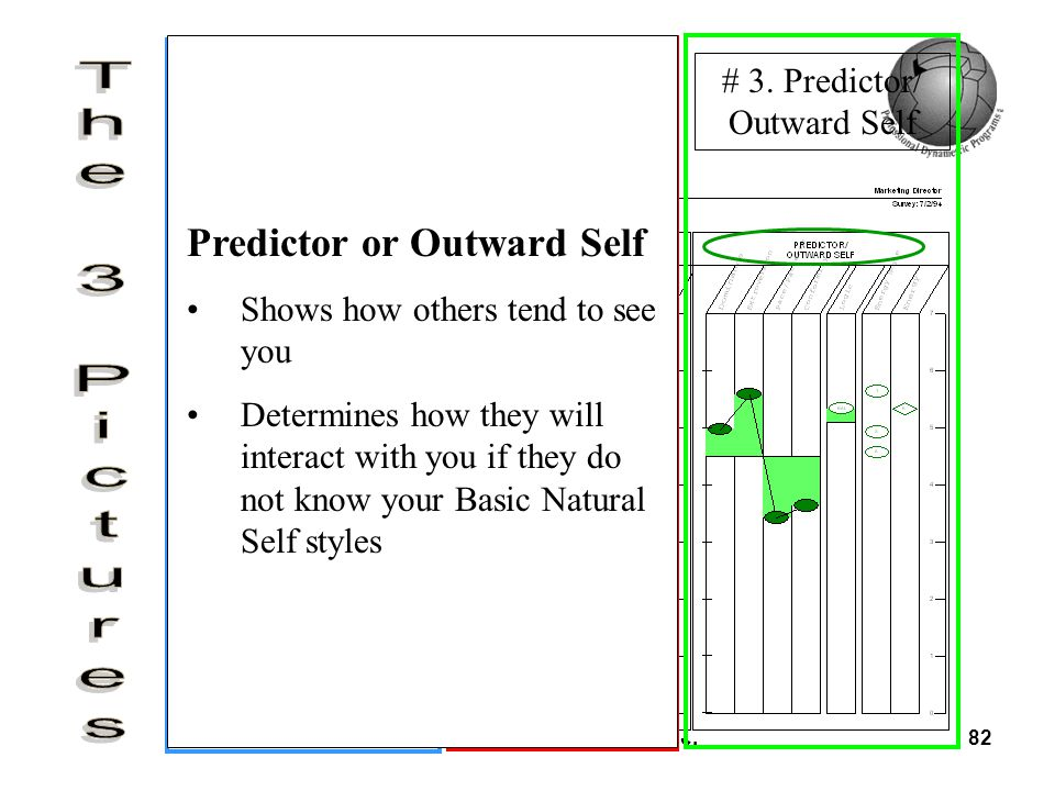 © PDP Institute Co. Ltd. & PDP Inc.82 # 1. Basic Natural Self # 2. Priority Self # 3. Predictor/ Outward Self Predictor or Outward Self Shows how othe