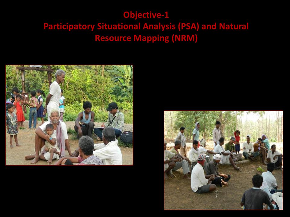 Objective-1 Participatory Situational Analysis (PSA) and Natural Resource Mapping (NRM)