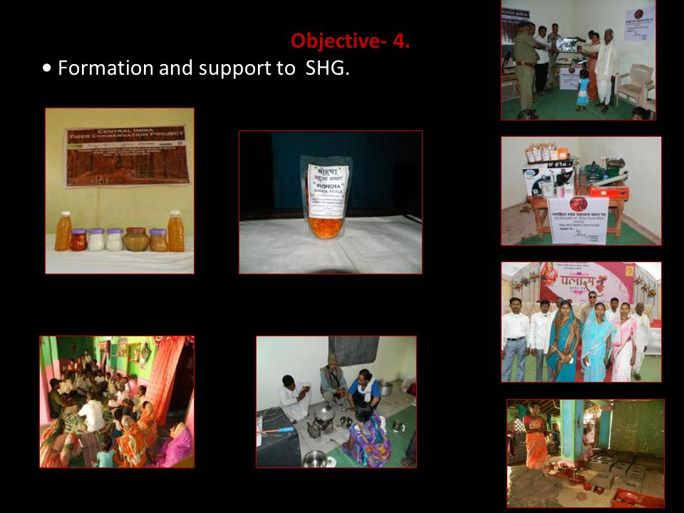 Objective- 4. Formation and support to SHG.
