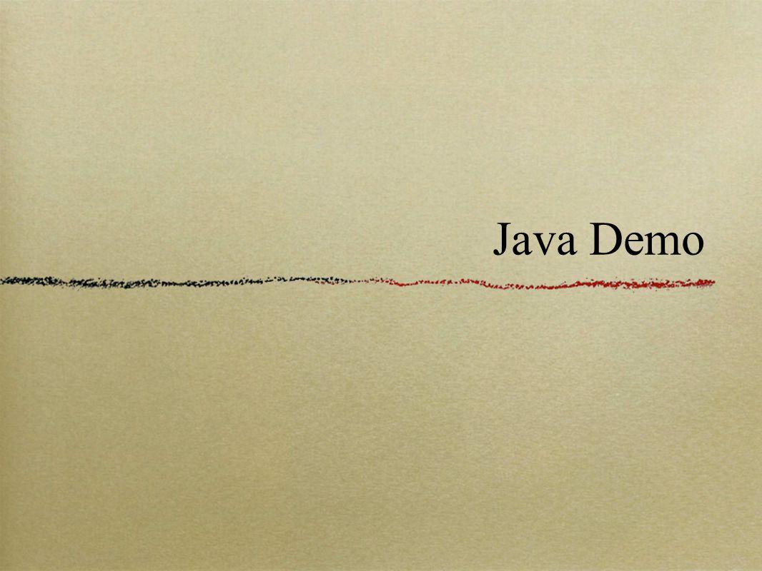 Java Demo