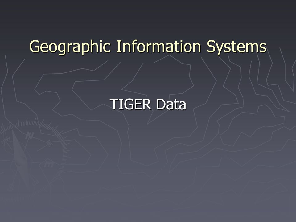 Geographic Information Systems TIGER Data