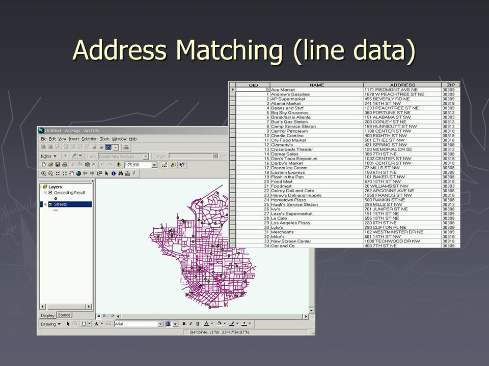 Address Matching (line data)