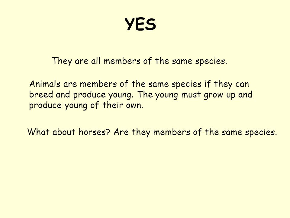YES They are all members of the same species.
