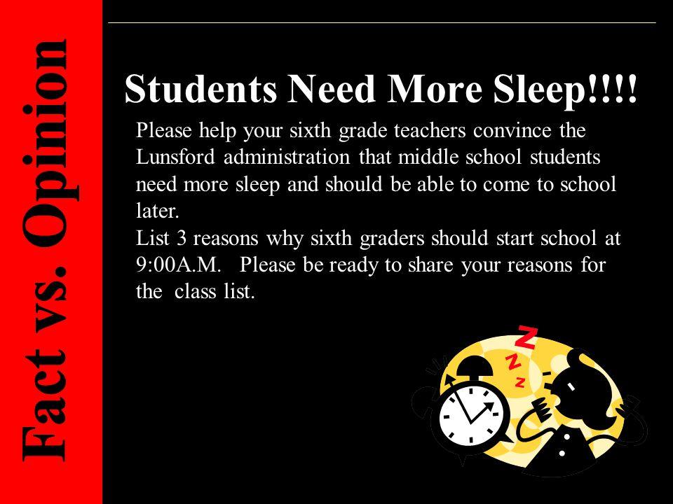 Students Need More Sleep!!!.