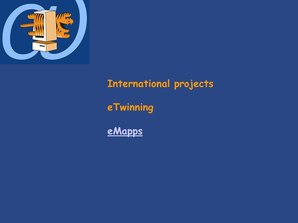 International projects eTwinning eMapps