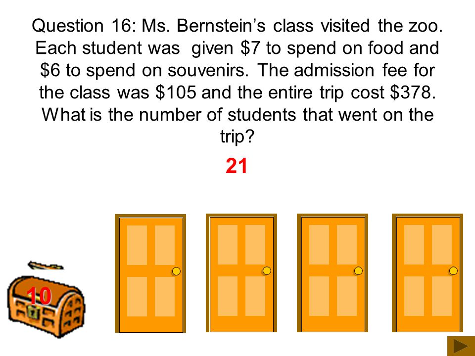 200 300 25 Question 15: Ms. Bernstein can type about 52 words per minute.
