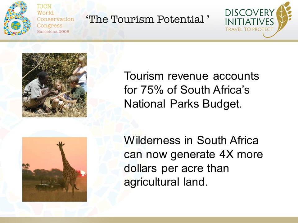 Tourism revenue accounts for 75% of South Africa's National Parks Budget.