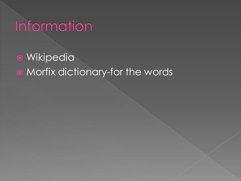  Wikipedia  Morfix dictionary-for the words