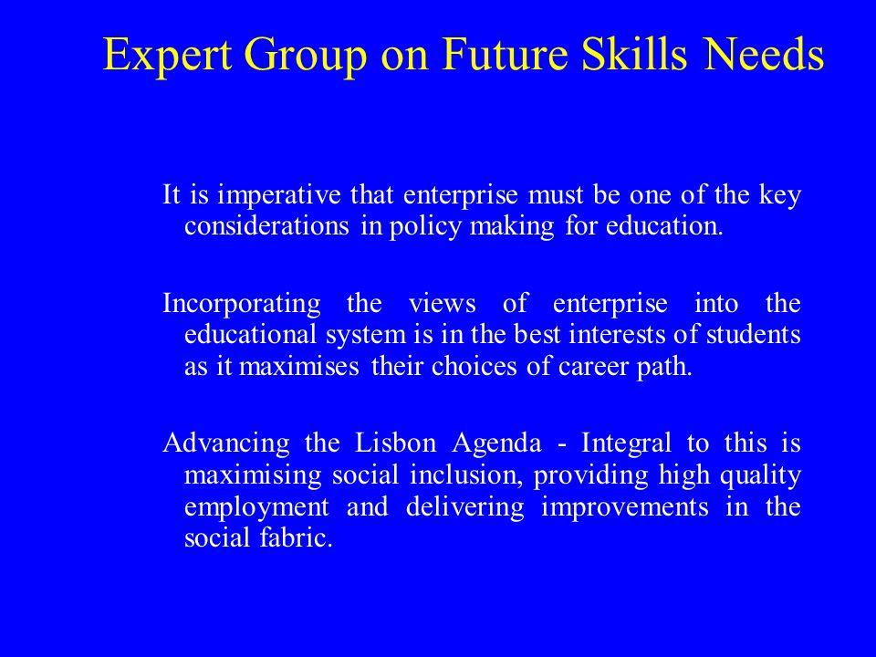 Crucial Skills for 21 st Century Enterprise Entrepreneurial Skills Science, Engineering and Technology Skills Mathematics ICT Soft Skills Foreign Language Skills