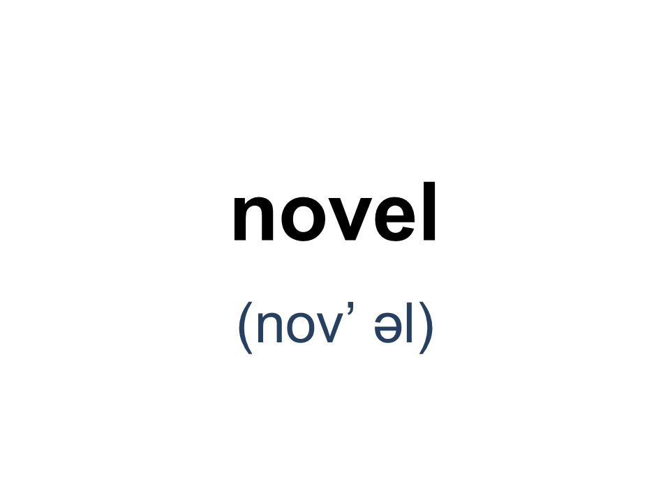 novel (nov' əl)