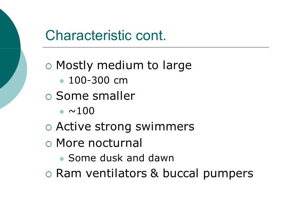 Characteristic cont.