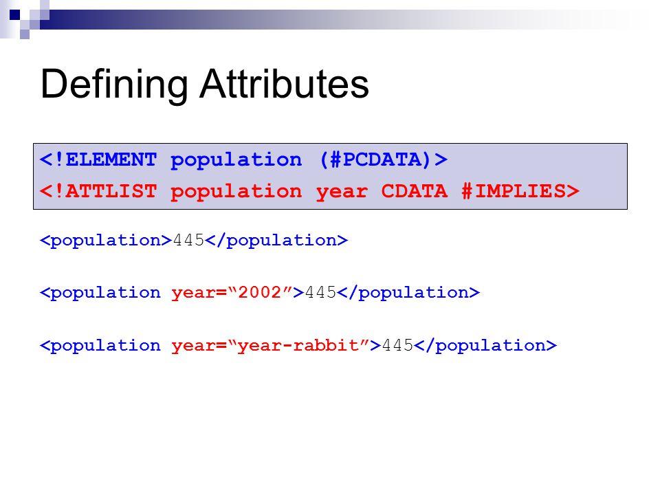 Defining Attributes 445
