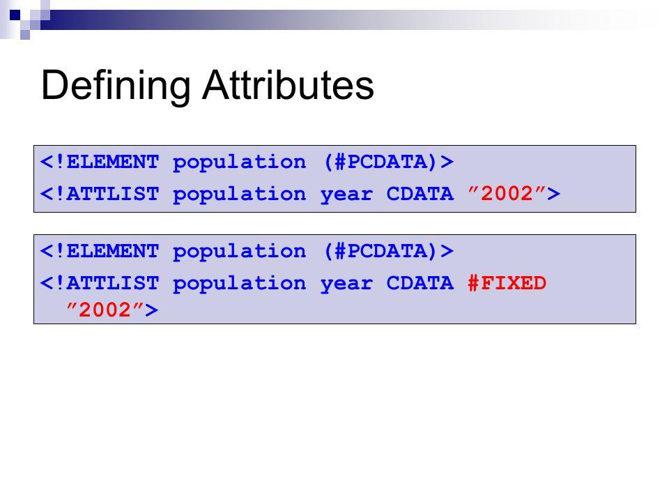 Defining Attributes