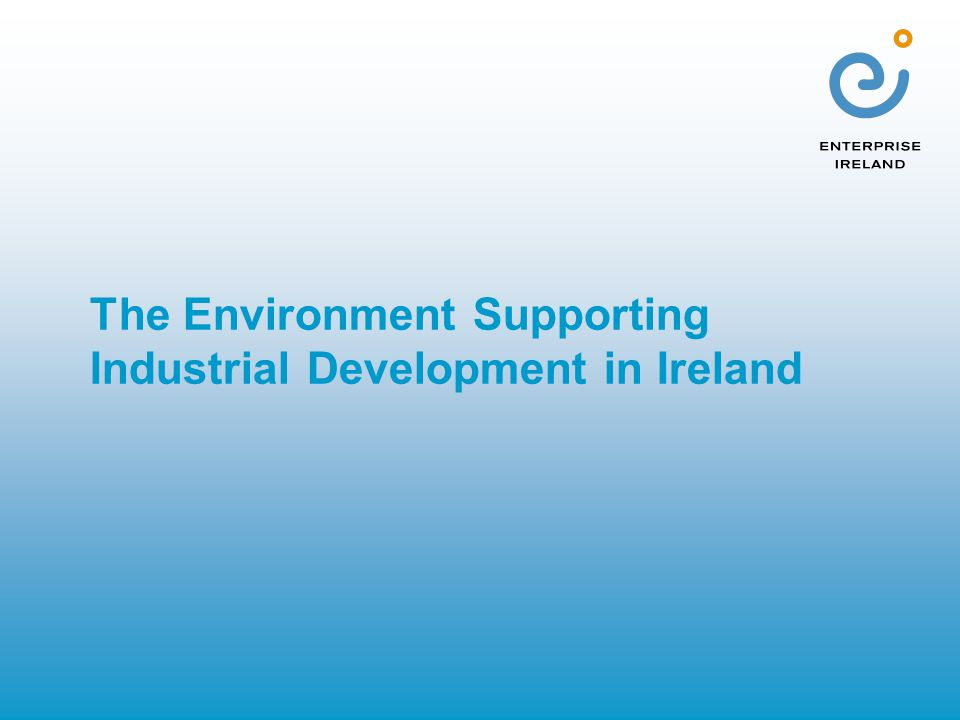 The Environment Supporting Industrial Development in Ireland