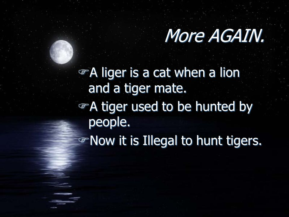Finally FThe tiger population used to be very little back then.