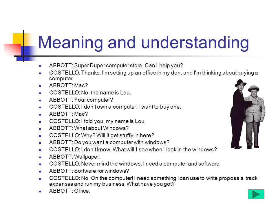 Meaning and understanding ABBOTT: Super Duper computer store.
