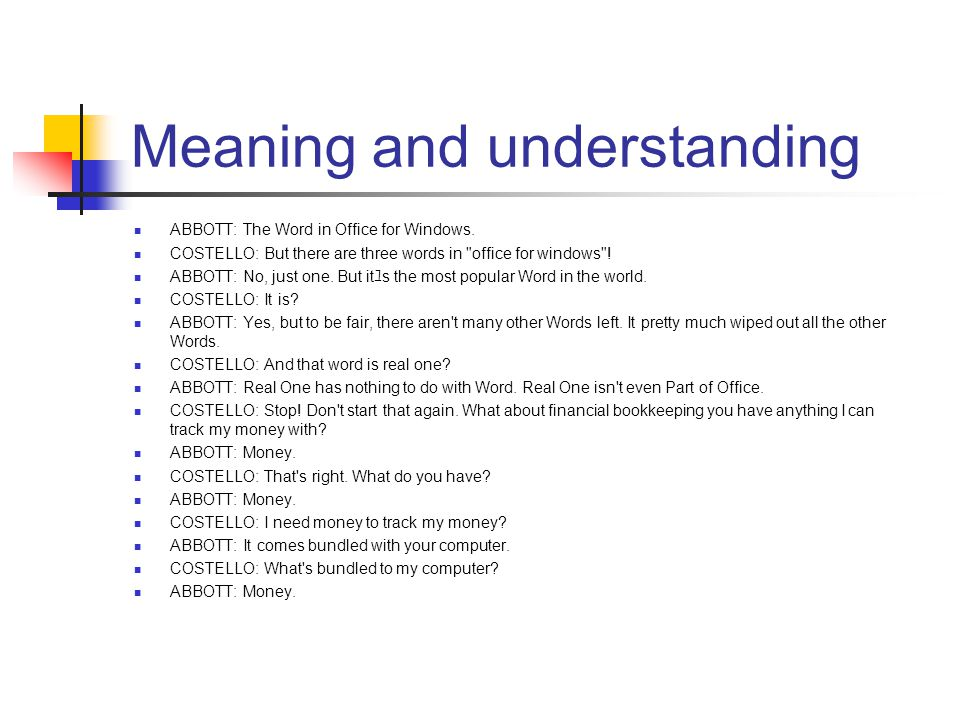 Meaning and understanding ABBOTT: The Word in Office for Windows.