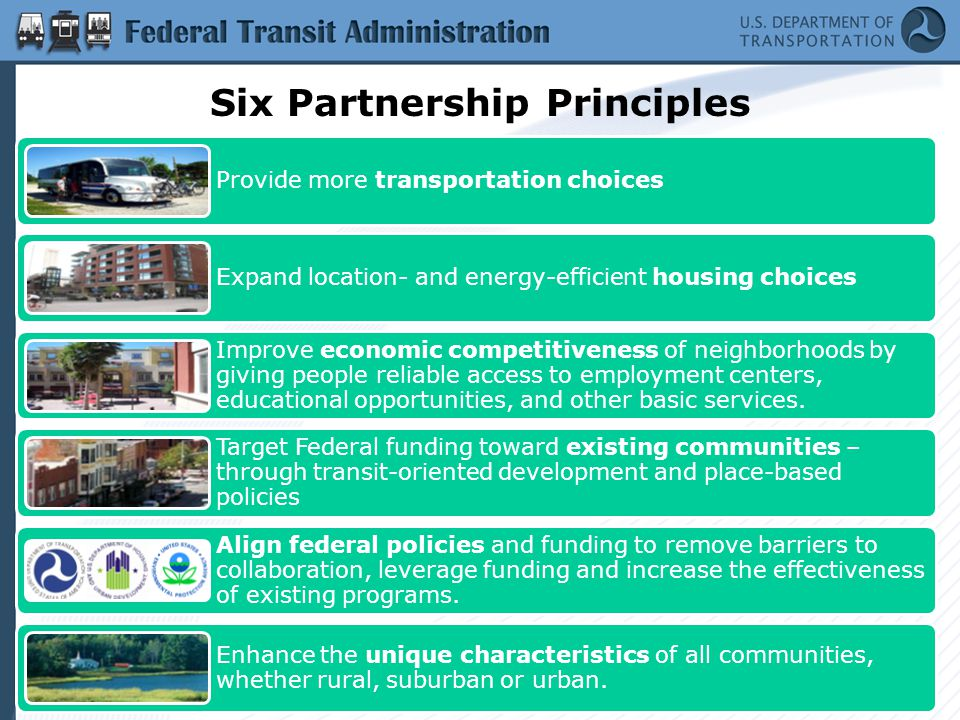 About FTA Who we are Regional structure What we do –Planning –Grant delivery –Grant management –Engineering –Liaison to local/regional partners on efforts like Livability Initiative/Partnership for Sustainable Communities