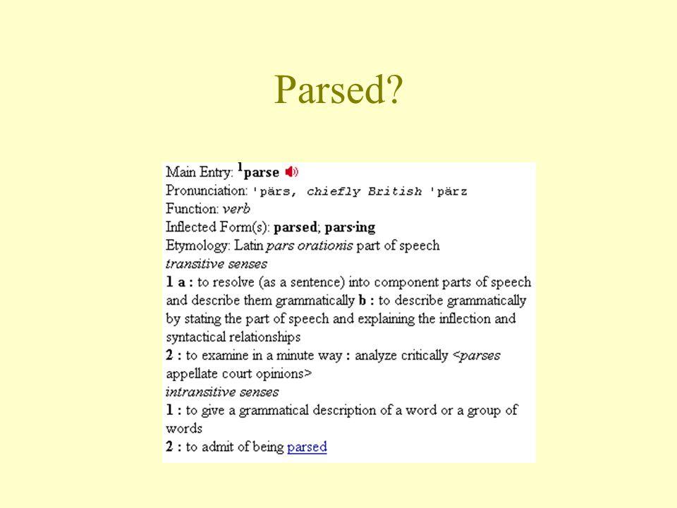 Parsed?