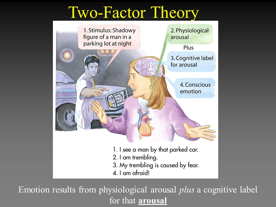 Two-Factor Theory Emotion results from physiological arousal plus a cognitive label for that arousal