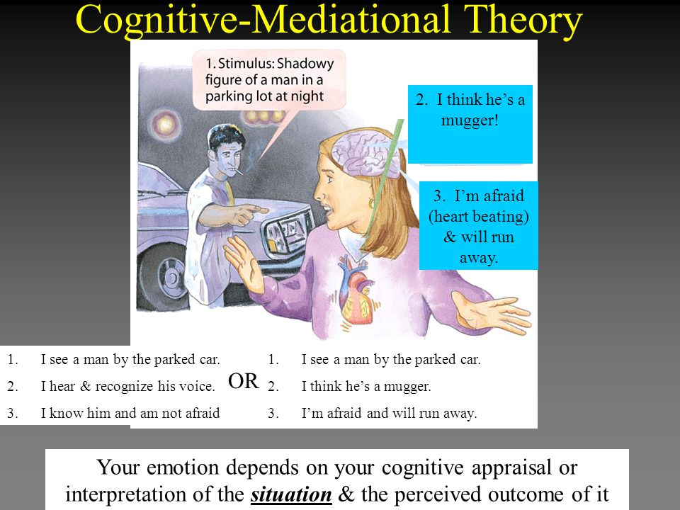 Cognitive-Mediational Theory 1.I see a man by the parked car.