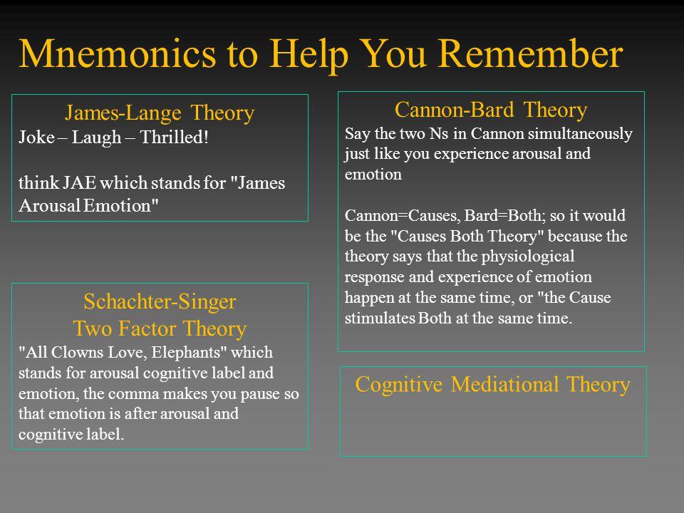 Mnemonics to Help You Remember James-Lange Theory Joke – Laugh – Thrilled.