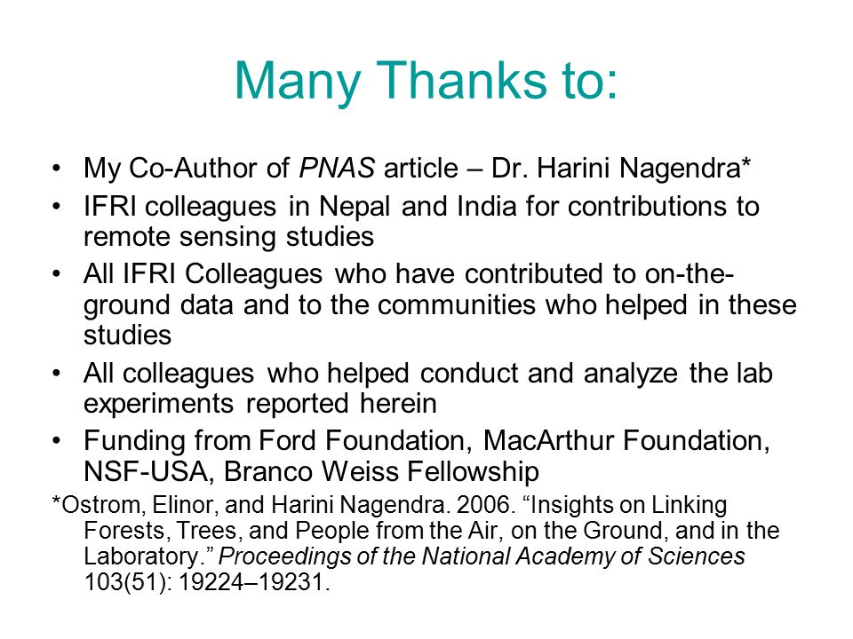 Many Thanks to: My Co-Author of PNAS article – Dr.