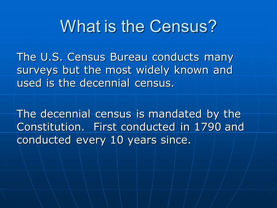 Levels of Census Geography Source: U.S. Census Bureau, TIGER/Line Files documentation