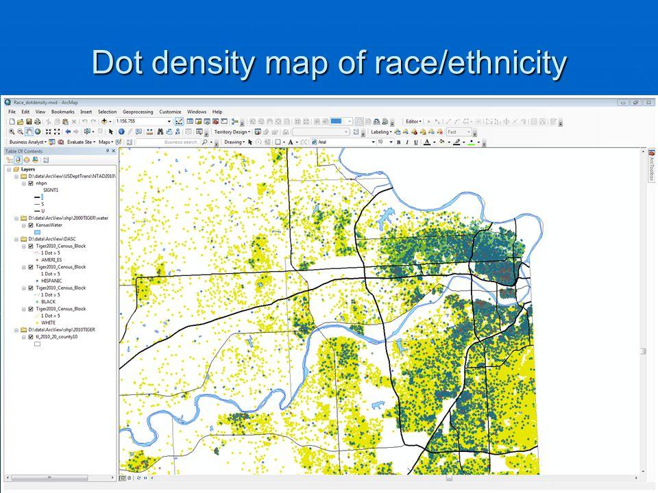 Dot density map of race/ethnicity