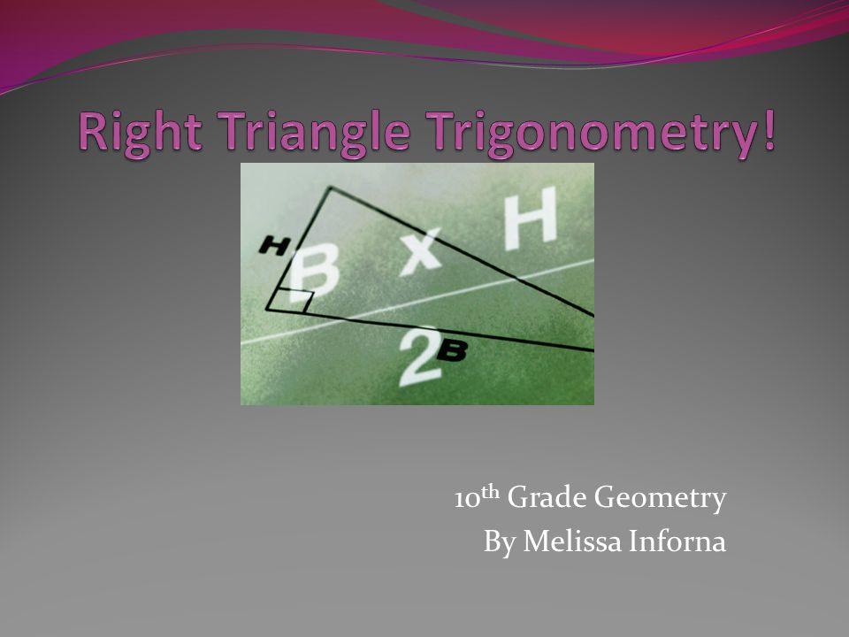 10 th Grade Geometry By Melissa Inforna