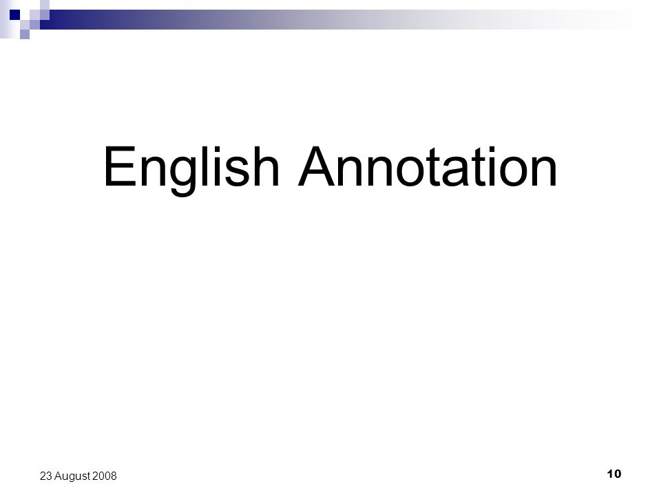 10 23 August 2008 English Annotation