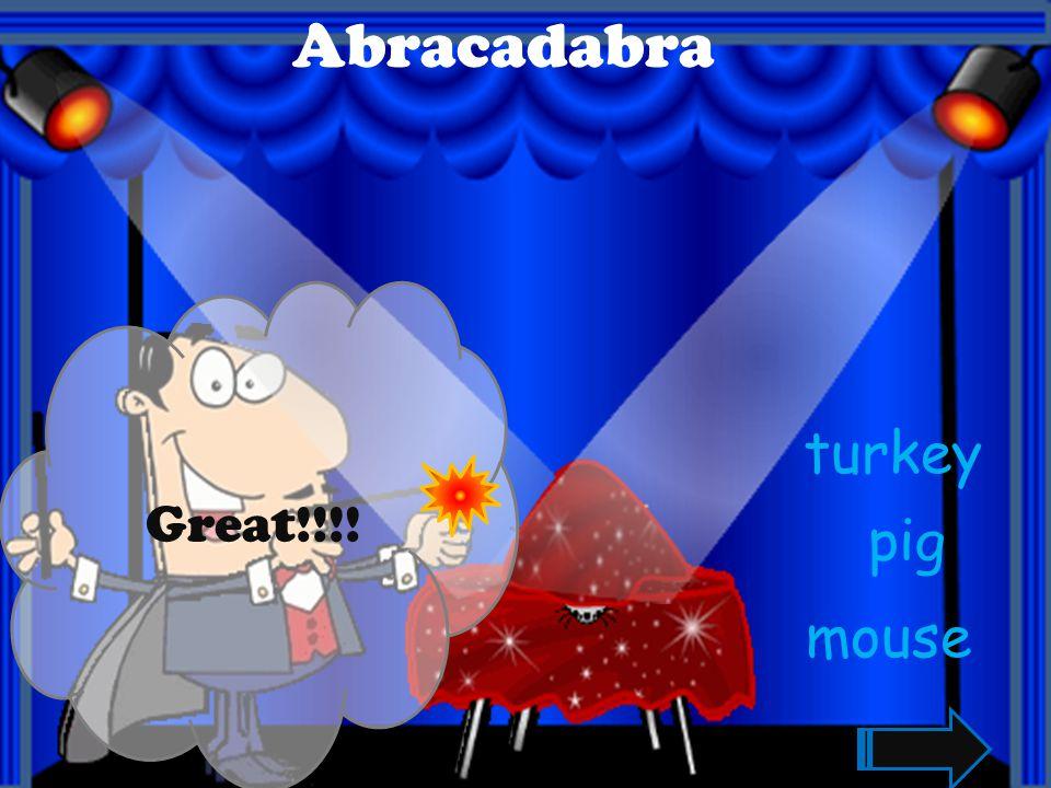 Great!!! Abracadabra dog goat rhino