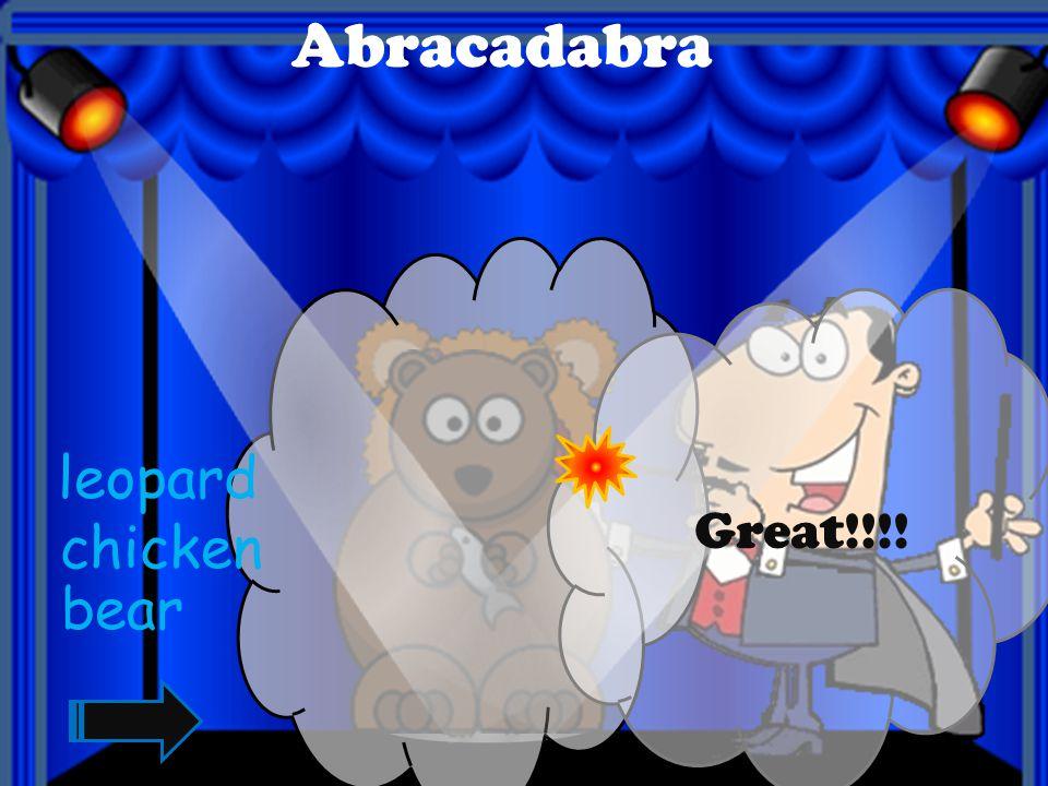 Abracadabra Great!!!! bird tiger lion