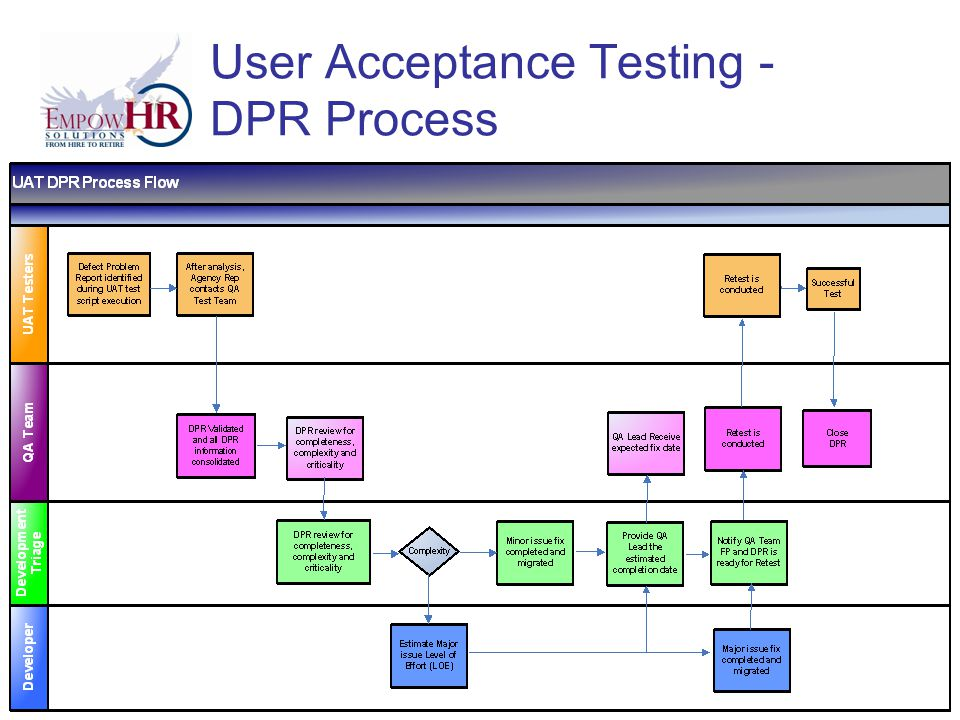 User Acceptance Testing - DPR Process