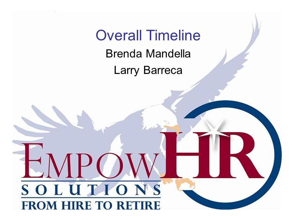 Overall Timeline Brenda Mandella Larry Barreca