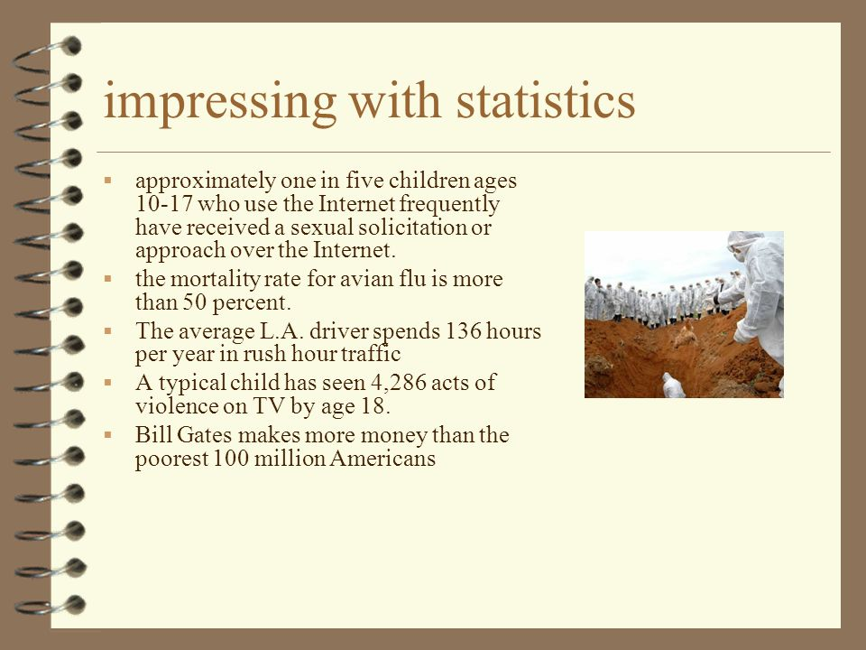 impressing with statistics  approximately one in five children ages 10-17 who use the Internet frequently have received a sexual solicitation or appr