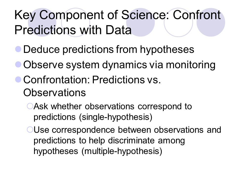 Use of Monitoring in Science Strength of inference:  Manipulative experiment > Impact study > Observational study Strength of inference for observational studies:  Prospective (a priori hypotheses) > Retrospective (a posteriori stories) Claim: monitoring is most useful to science when coupled with manipulations of system